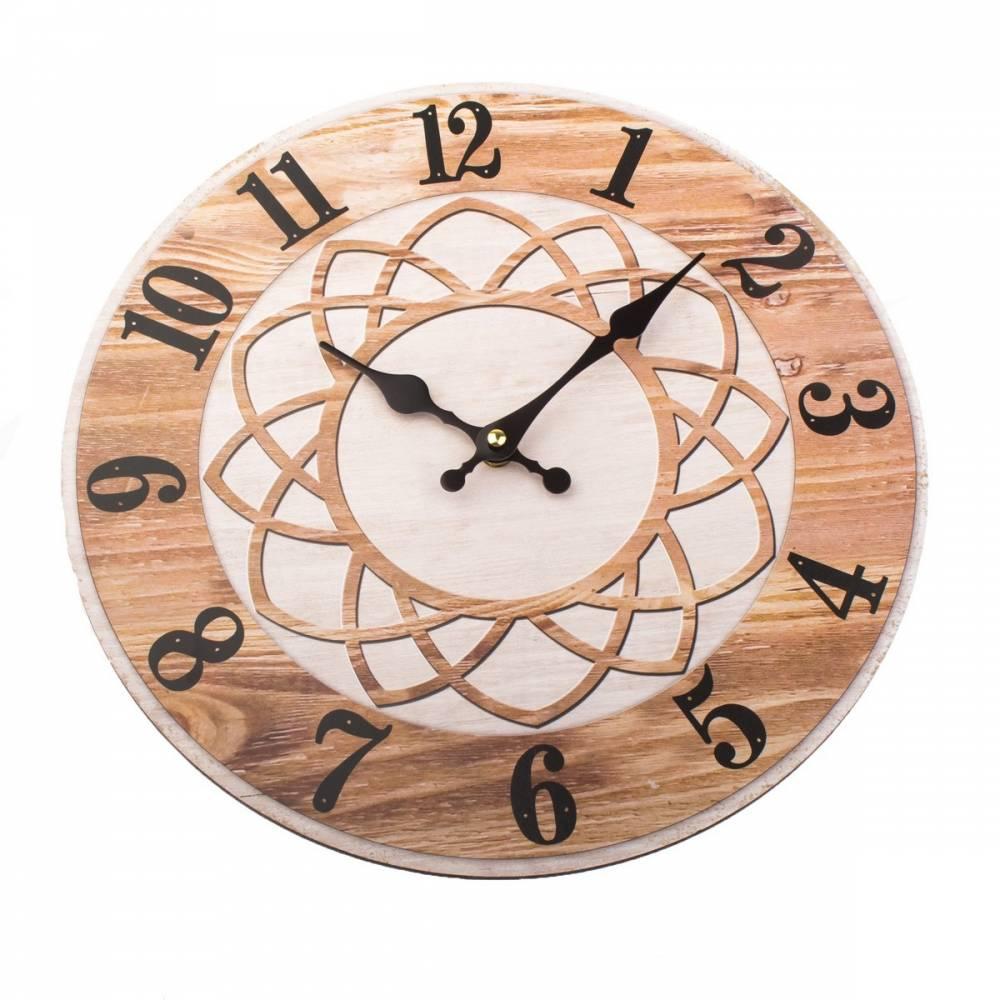 Nástenné hodiny Mandala 34 cm, čierna