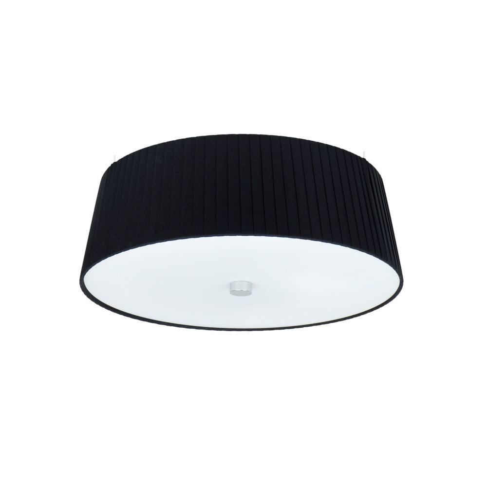 Čierne závesné svietidlo Sotto Luce Kami, Ø 36 cm