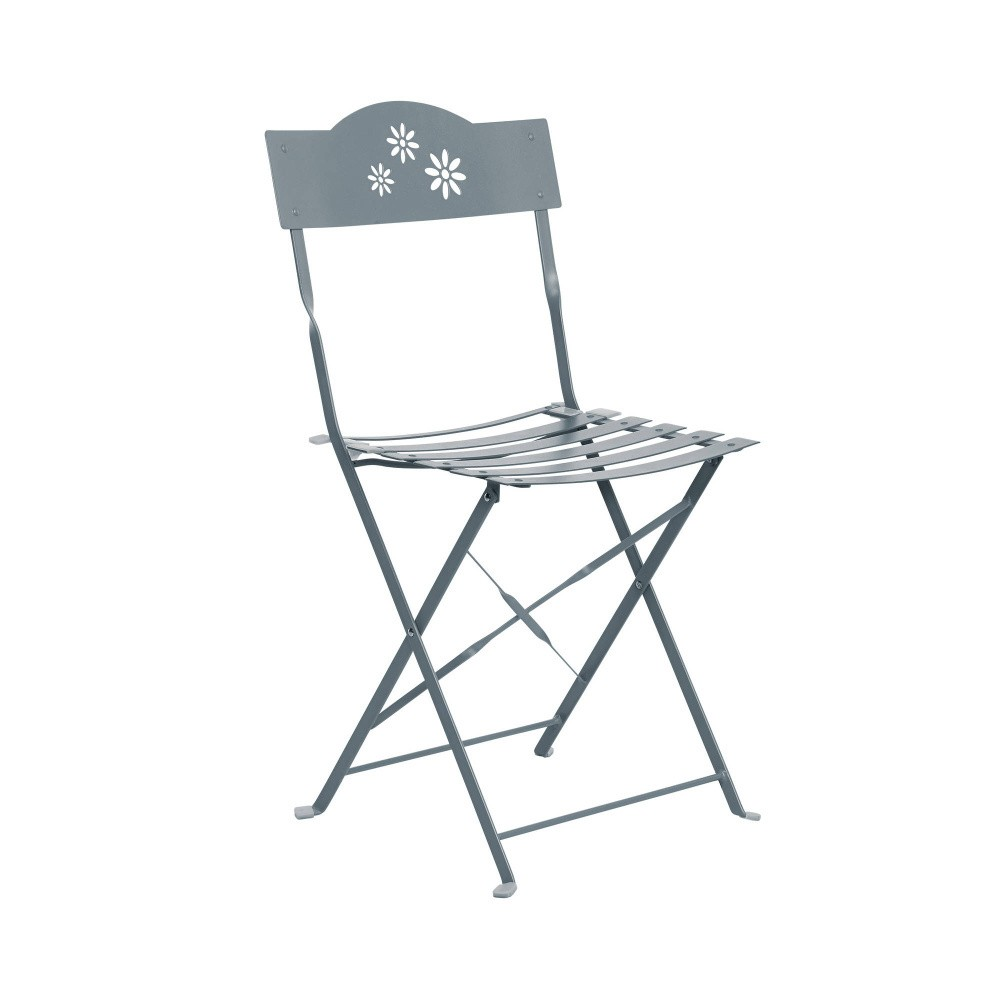 Sivá skladacia stolička Butlers Daisy Jane