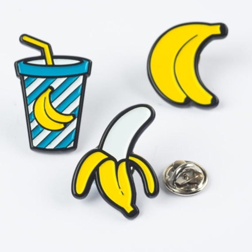 Kovové odznaky Just Mustard Banana