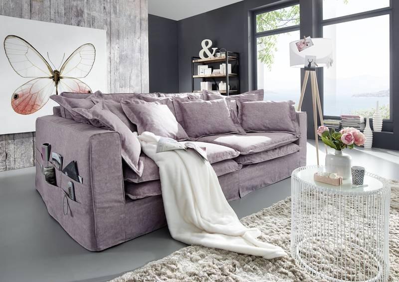 Bighome - NEWPORT sedačka, fialovosivá