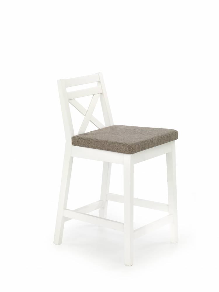 Jedálenská stolička Borys Low (biela + hnedá)