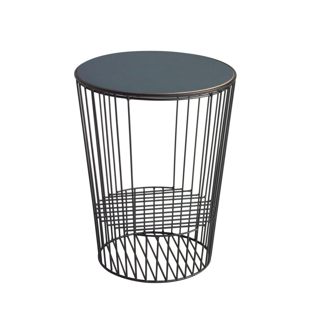 Odkladací stolík z kovu s možnosťou uloženia časopisov HARTÔ Duo