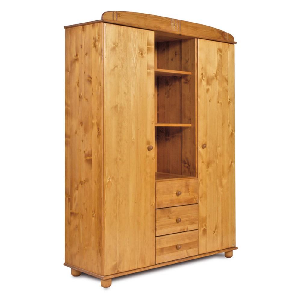 Šatníková skriňa z borovicového dreva Faktum Tomi