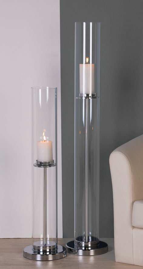 Svietnik zo skla EMPORIO 108 cm - číra