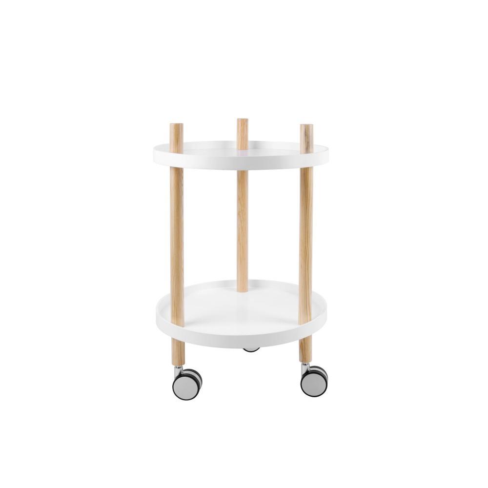 Pojazdný dvojposchodový stolík Present Time Kitchen Trolley