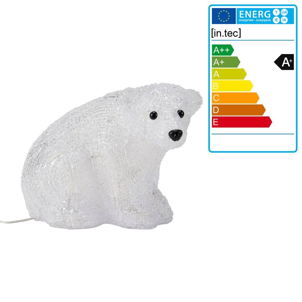[in.tec]® Svietiaci ľadový medveď - vianočná dekorácia - 32 LED
