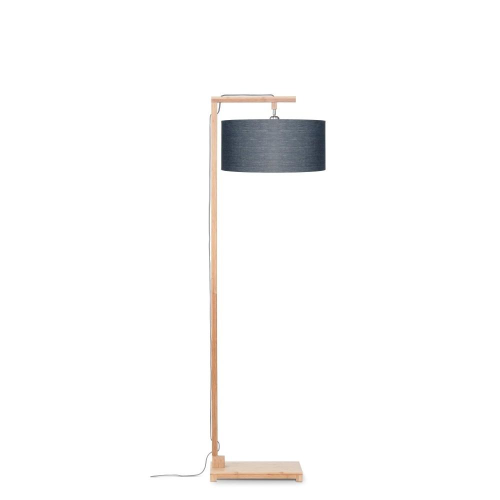 Stojacia lampa s tmavosivým tienidlom a konštrukciou z bambusu Good&Mojo Himalaya