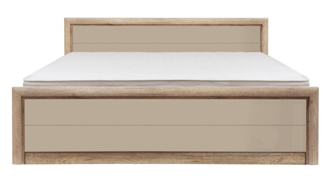 Manželská posteľ Koen 2 LOZ/160   Farba: dub canyon monument / sivo-pieskový lesk