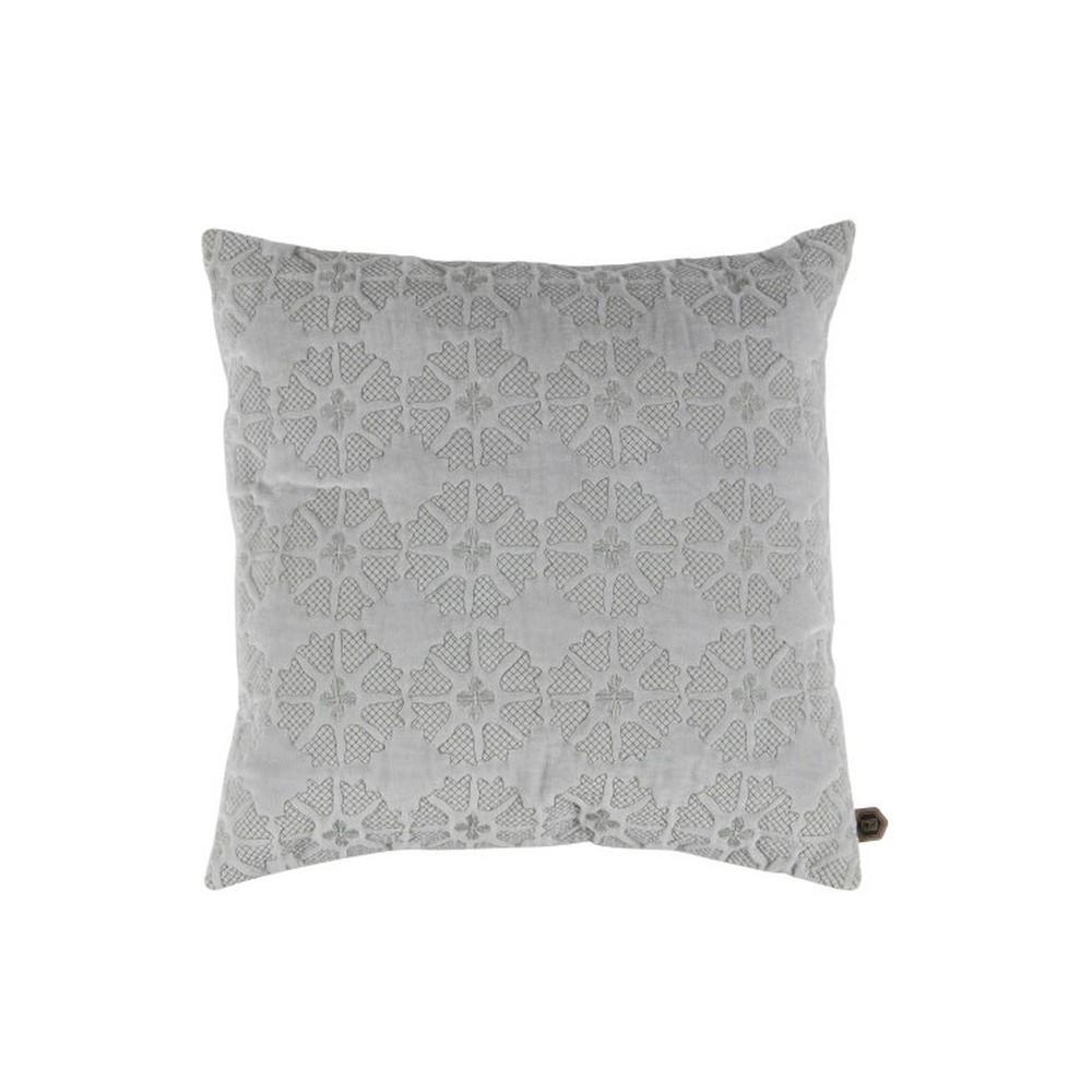 Zamatový svetlosivý vankúš De Eekhoorn Gossip, 50×50cm