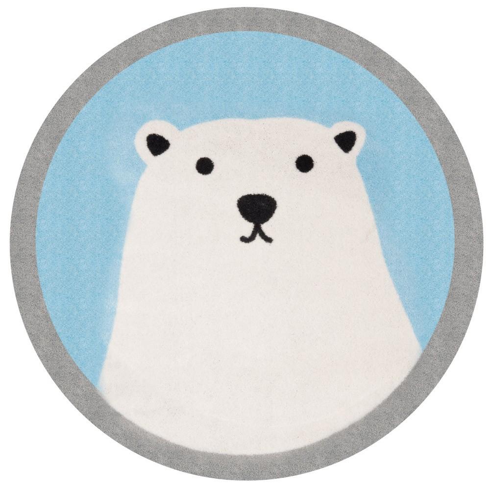 Detský koberec Hanse Home Ľadový medveď, ⌀100cm