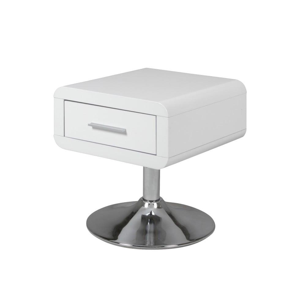Biely nočný stolík s 1 zásuvkou Actona Comfort