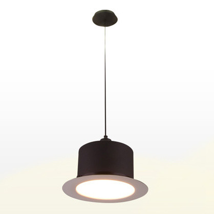 Čierno-biele stropné svietidlo Hat