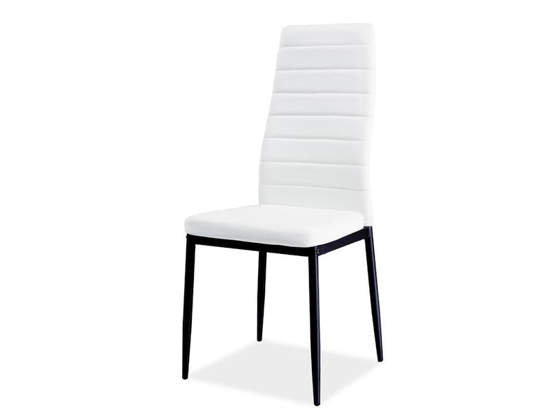 Jedálenská stolička VERME, biela/čierna