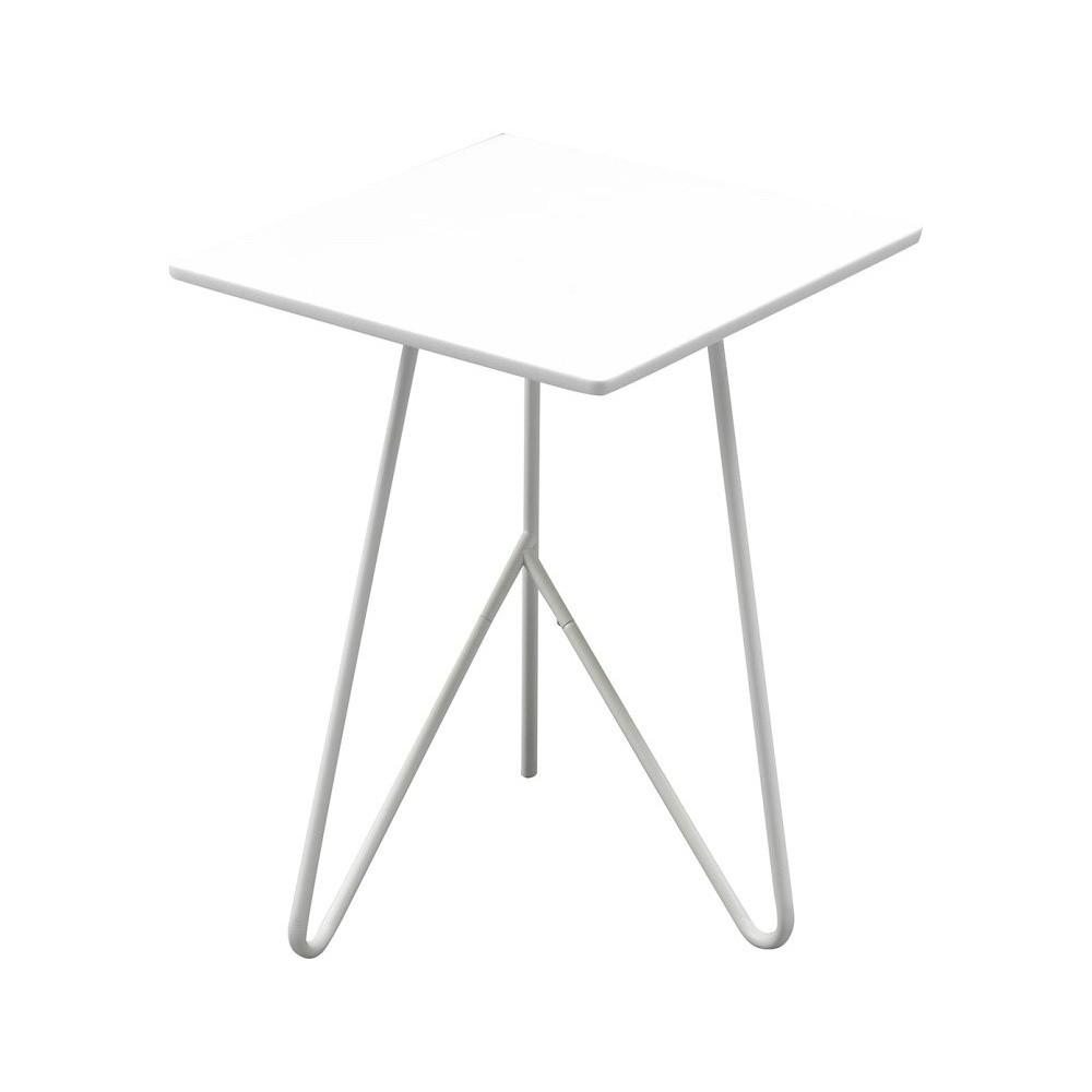 Biely odkladací stolík Design Twist Padang