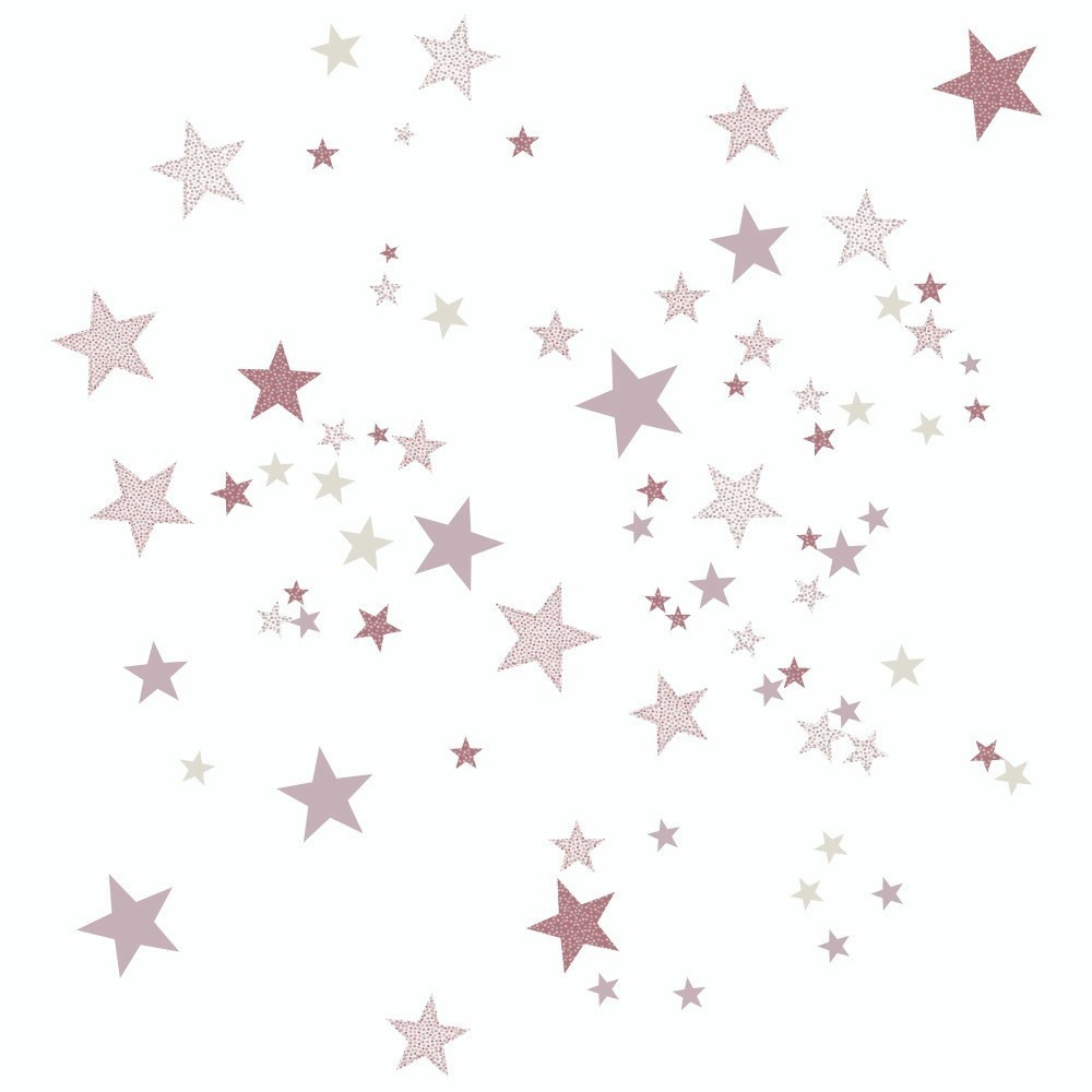Ružové nástenné samolepky Art For Kids Constellation