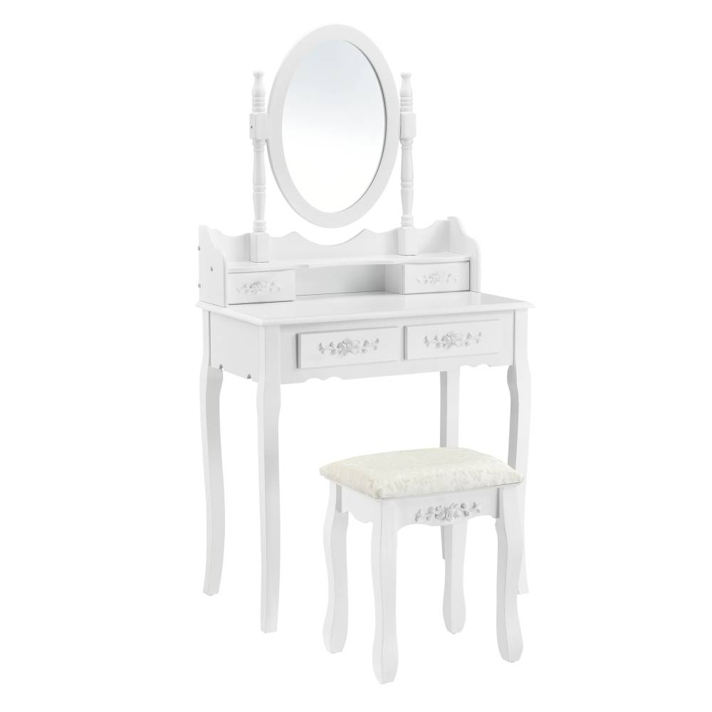 [en.casa]® Toaletný stolík AAWM-1902