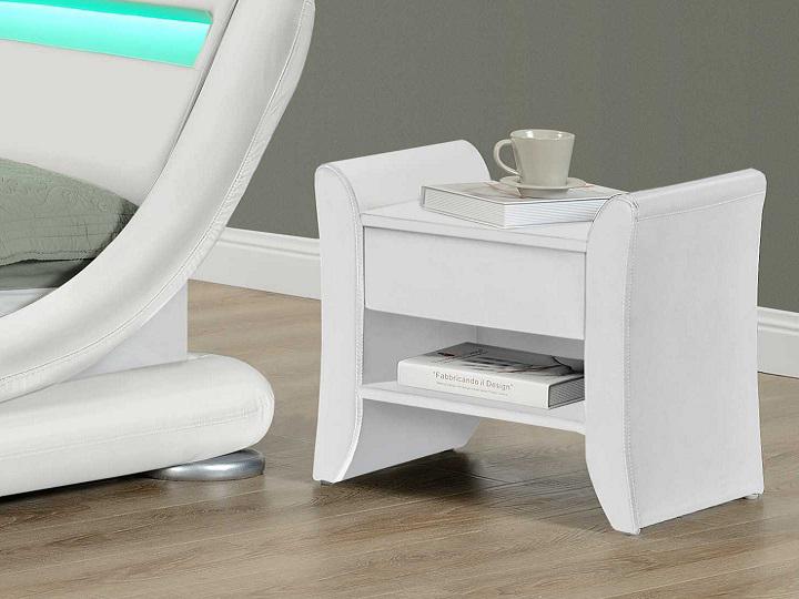 Nočný stolík Bolton (biela)