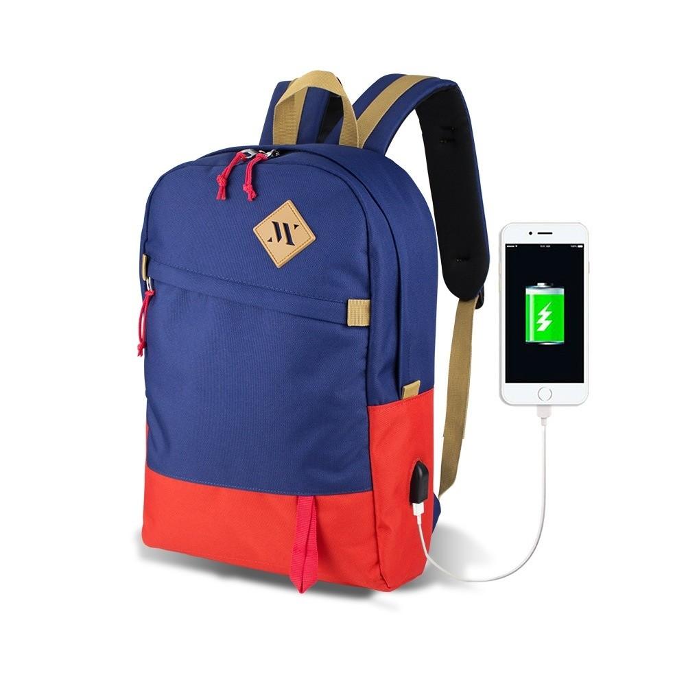 Modro-červený batoh s USB portom My Valice FREEDOM Smart Bag