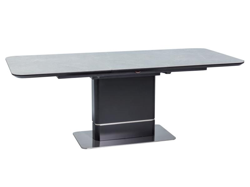 TRITON jedálenský stôl, čierna/mramor