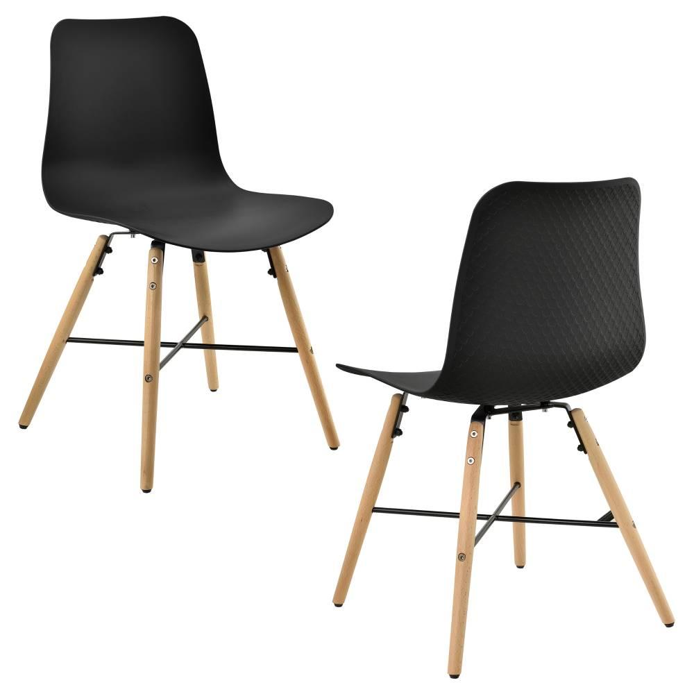 c5e8e616a897  en.casa ® Dizajnová stolička - 2 ks sada - 80 x 44