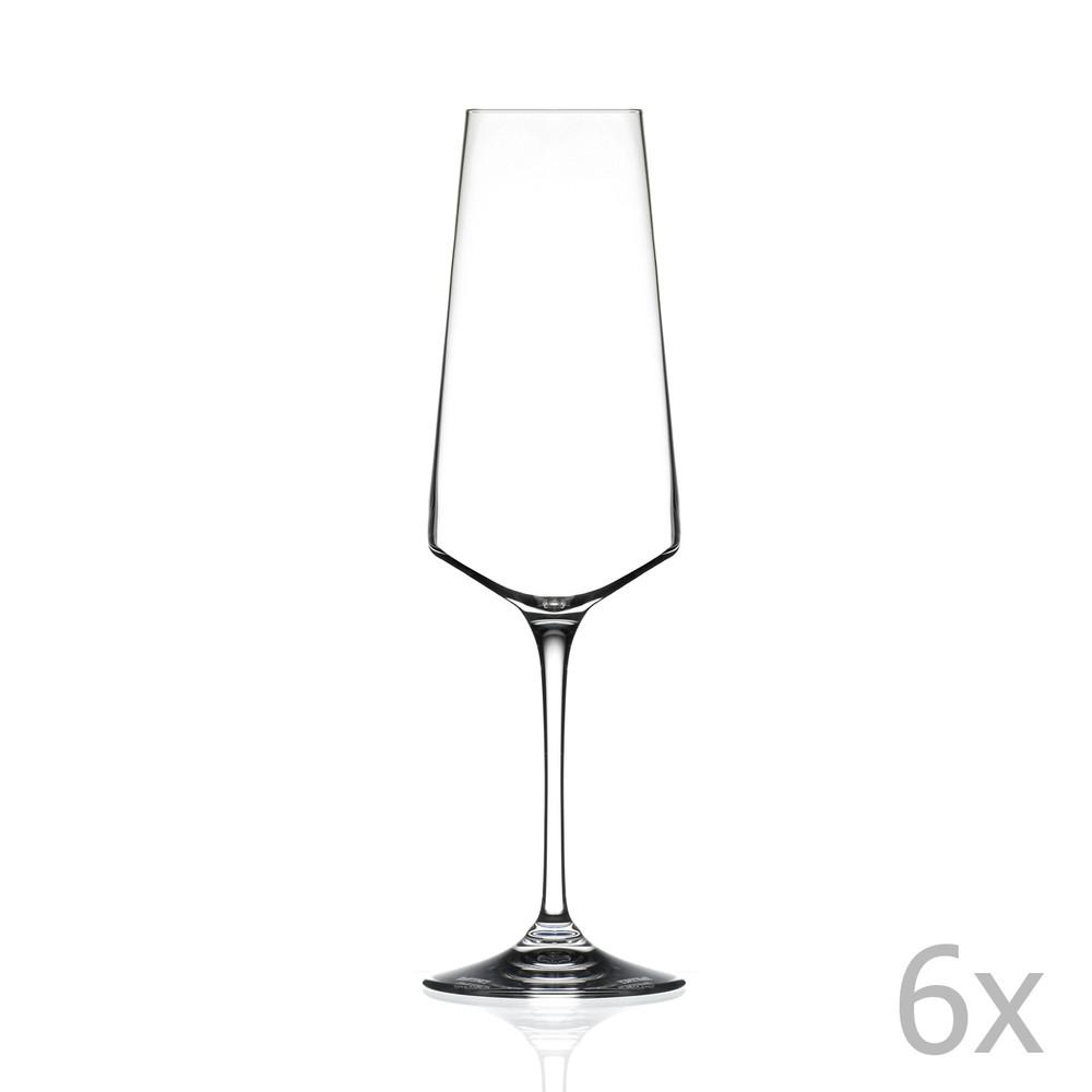 Sada 6 pohárov na sekt RCR Cristalleria Italiana Alessa