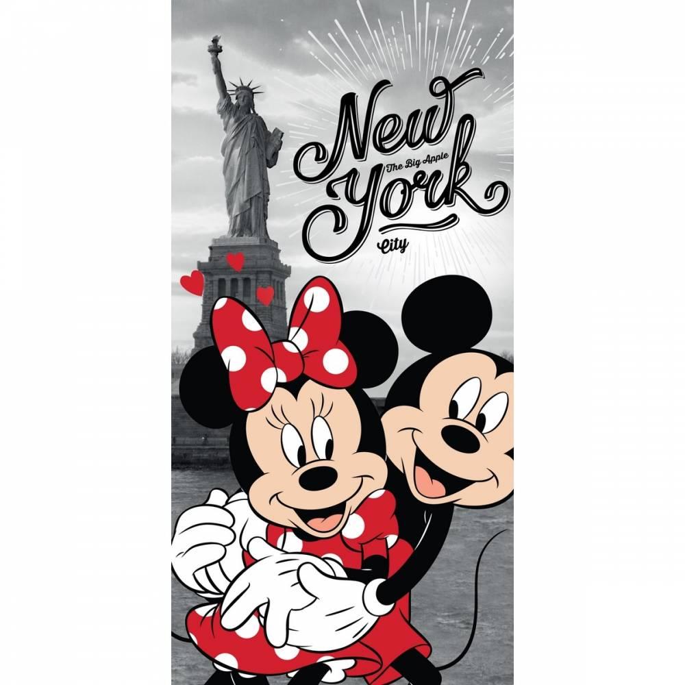 Jerry Fabrics Osuška Mickey and Minnie in New York, 70 x 140 cm