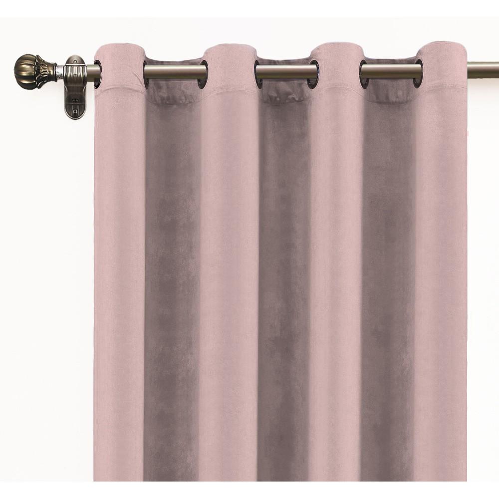 Ružový záves zo zamatu Velvet Atelier, 140×260 cm