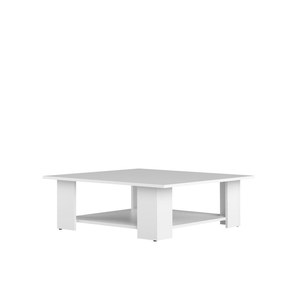 Biely konferenčný stolík Symbiosis Square, 67 x 67 cm