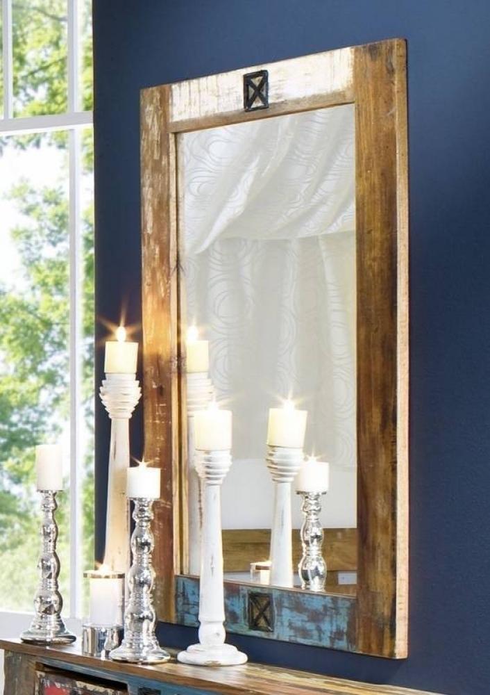 SPIRIT zrkadlo #04 - 120x80cm lakované staré indické drevo