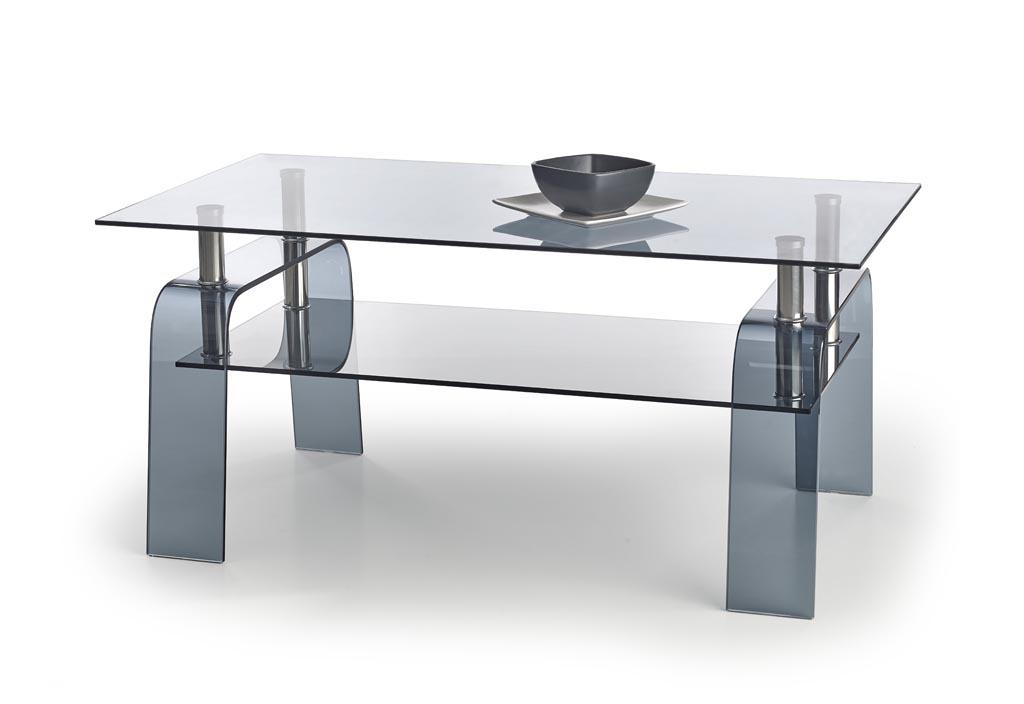 Konferenčný stolík Naomi (sklo + sivá)