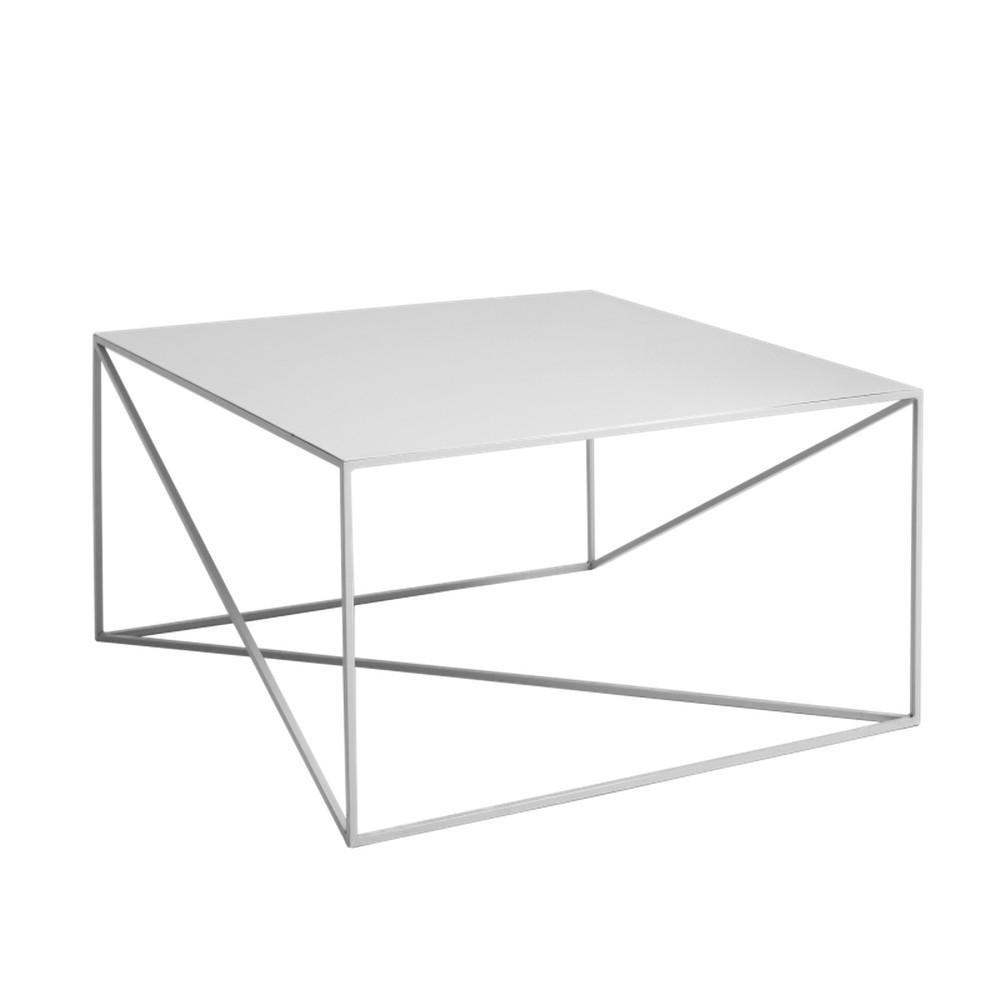 Sivý konferenčný stolík Custom Form Memo, šírka 80 cm