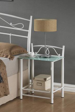 ET-920 nočný stolík, biely