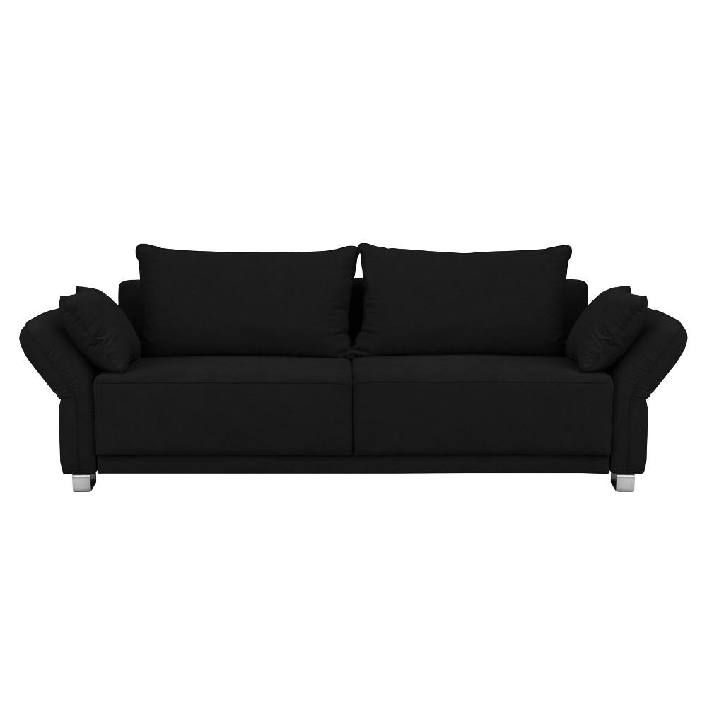 Čierna trojmiestna rozkladacia pohovka Windsor & Co Sofas Casiopeia