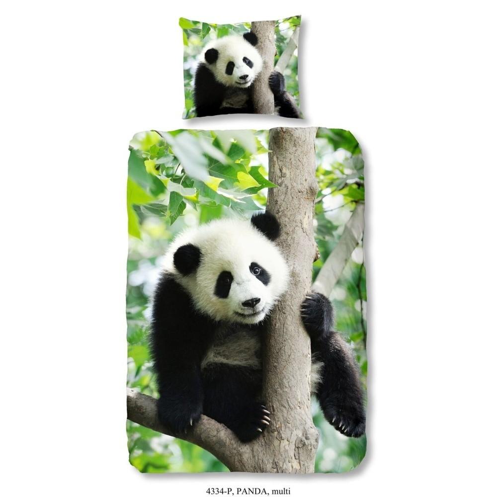 Detské obliečky s matívom pandy Good Morning, 140 x 200 cm