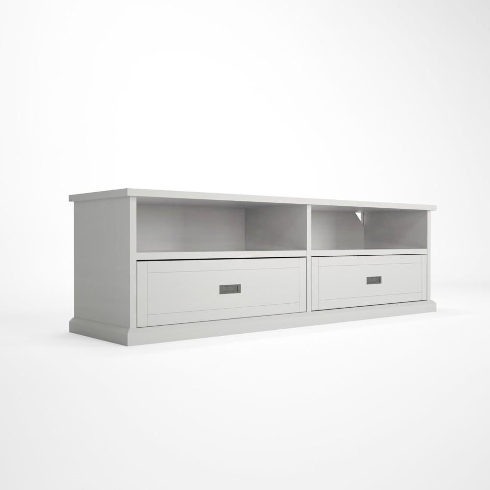 Biely TV stolík z dubového dreva Artemob Lass