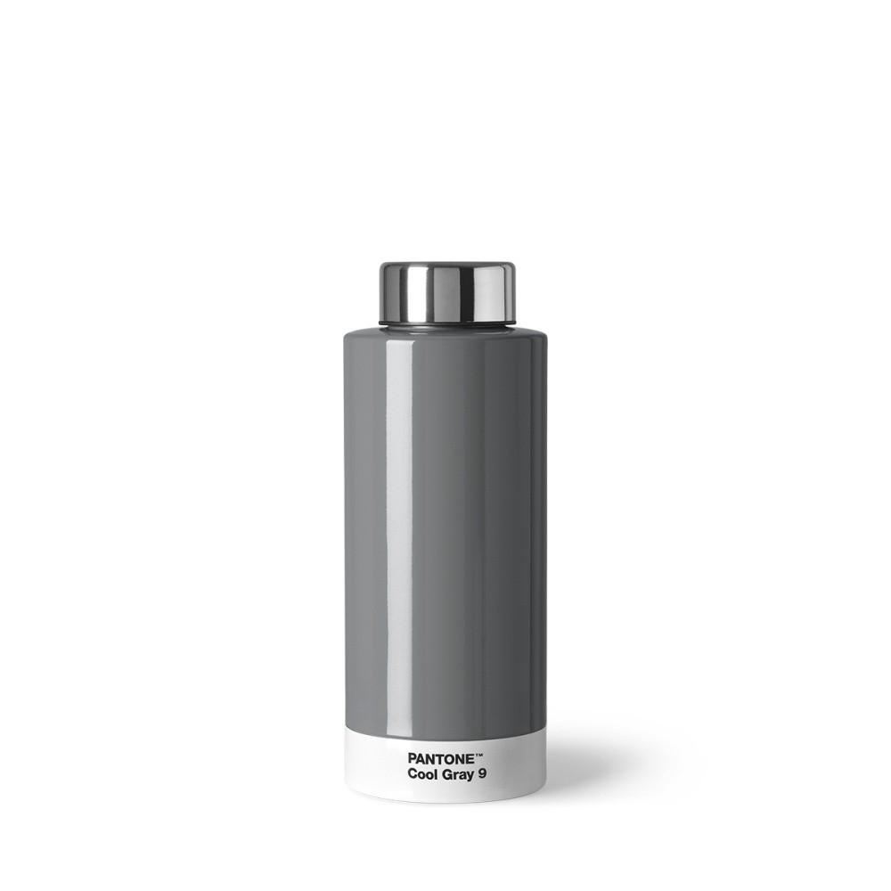 Svetlosivá fľaša z antikoro ocele Pantone, 630 ml