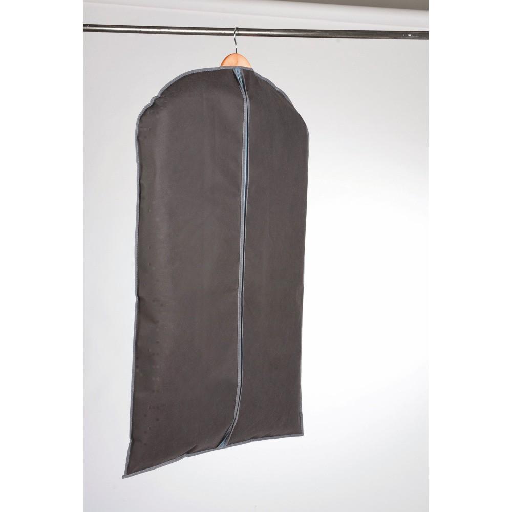 Sivý textilný závesný obal na šaty Compactor Garment