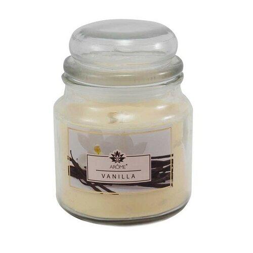 Arome Veľká vonná sviečka v skle Vanilla, 424 g