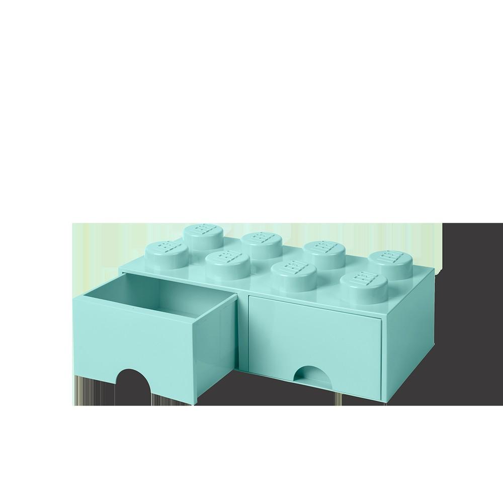 cf6ab374a ... Krabice a úložné boxy; Mentolovozelený úložný box s dvoma zásuvkami  LEGO®. Mentolovozelený úložný box s dvoma zásuvkami LEGO®