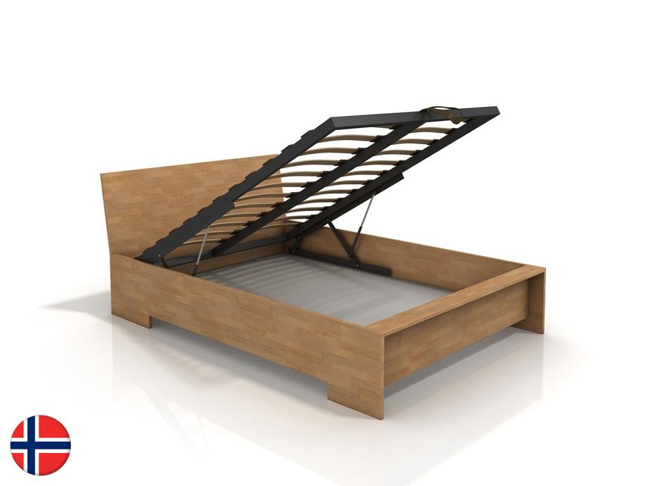 Manželská posteľ 180 cm Naturlig Lekanger High BC (buk) (s roštom)