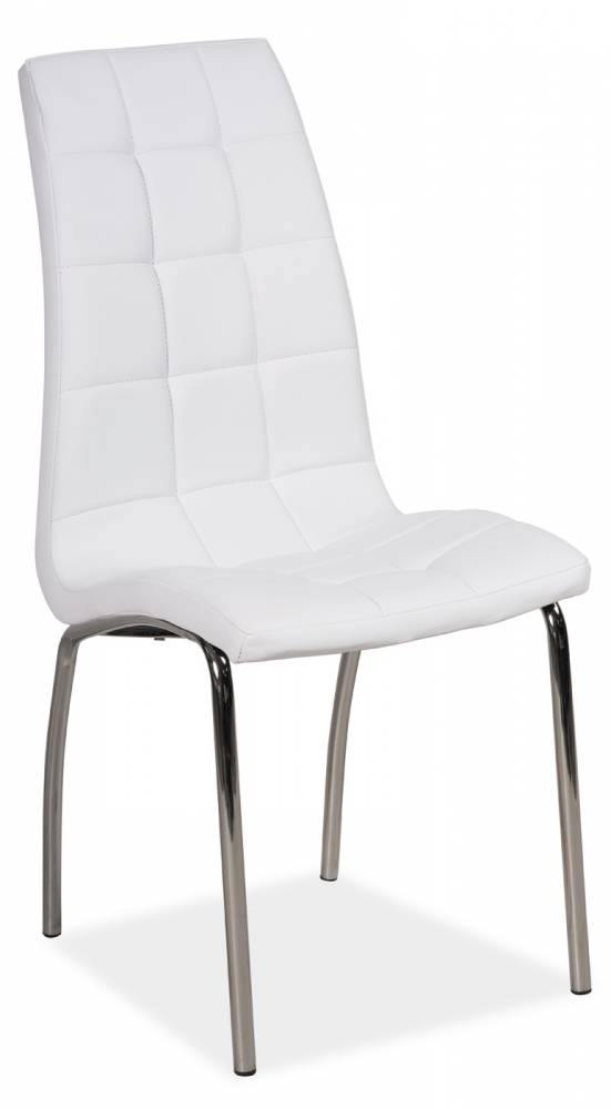 Jedálenská stolička H-104 (ekokoža biela)