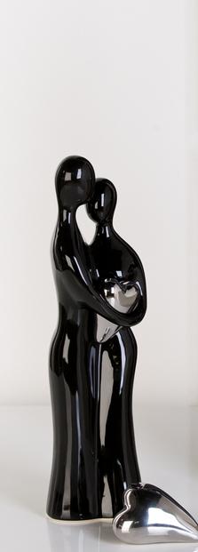 Dekoratívna figurína COUPLE - čierna