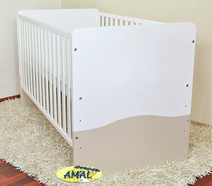 AMAL predĺžená postieľka/váľanda SOVA, 140x70 cm, biela