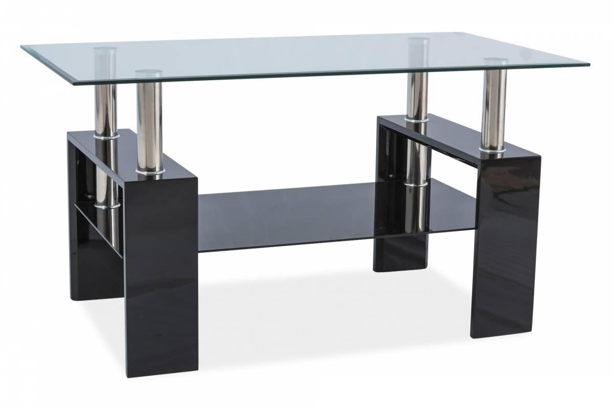 Konferenčný stolík Lisa III (lesk vysoký čierny)