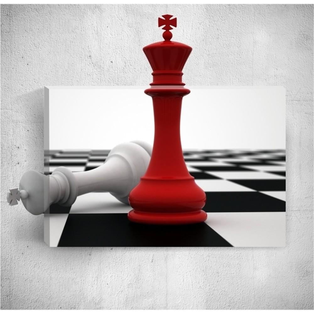 Nástenný 3D obraz Mosticx Red Check, 40×60 cm