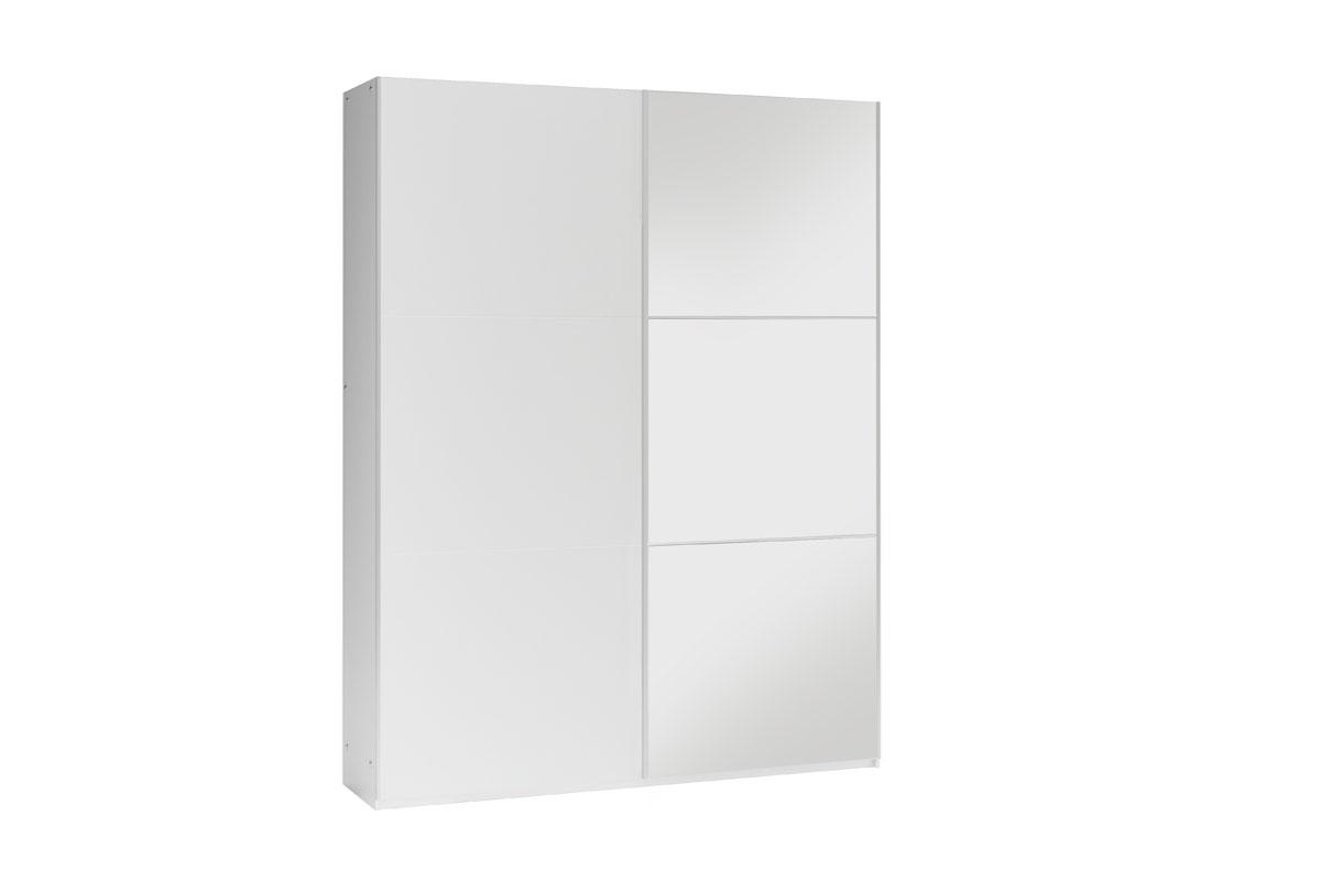 GOGO 150 šatníková skriňa so zrkadlom, biela