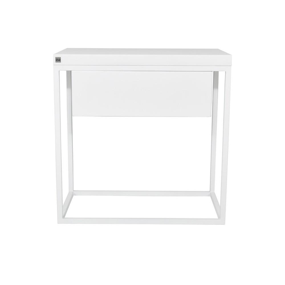 Biely nočný stolík Take Me HOME Moonlight, 50×30cm