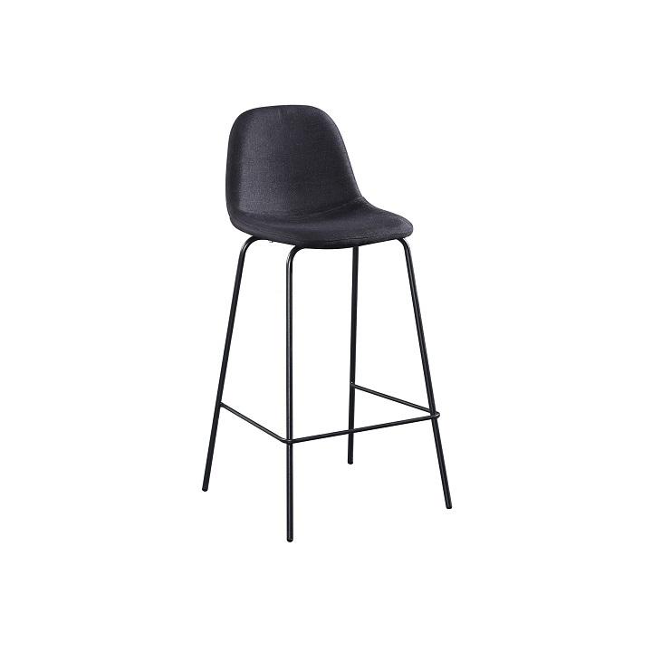 TEMPO KONDELA Barová stolička, tmavosivá látka/kov, MARIOLA NEW