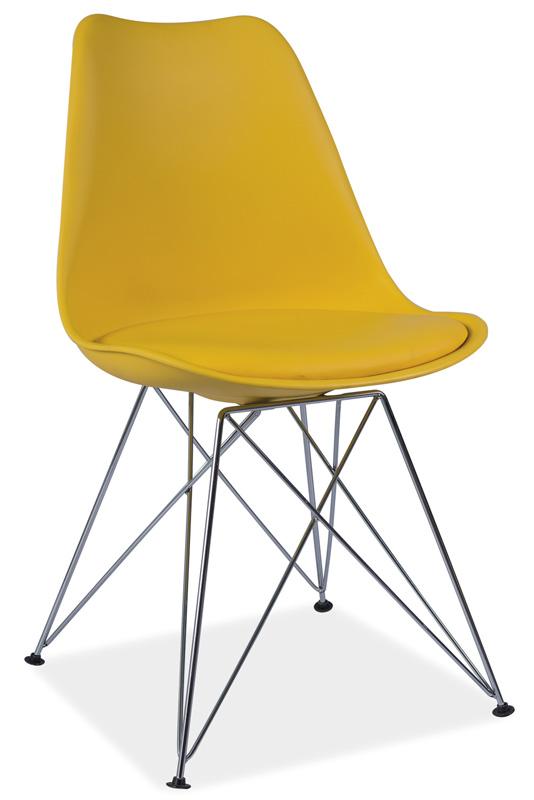 TIMEA jedálenská stolička, žltá